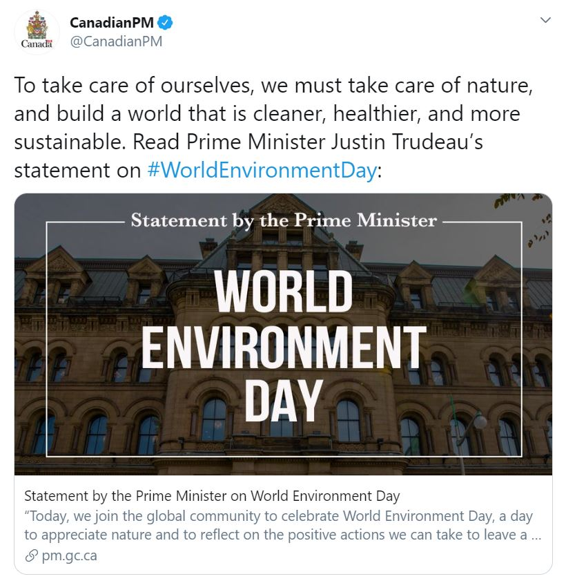 Canadian PM tweet